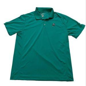 Nike Golf Tour Polo Green Dri-Fit Large USS Logo
